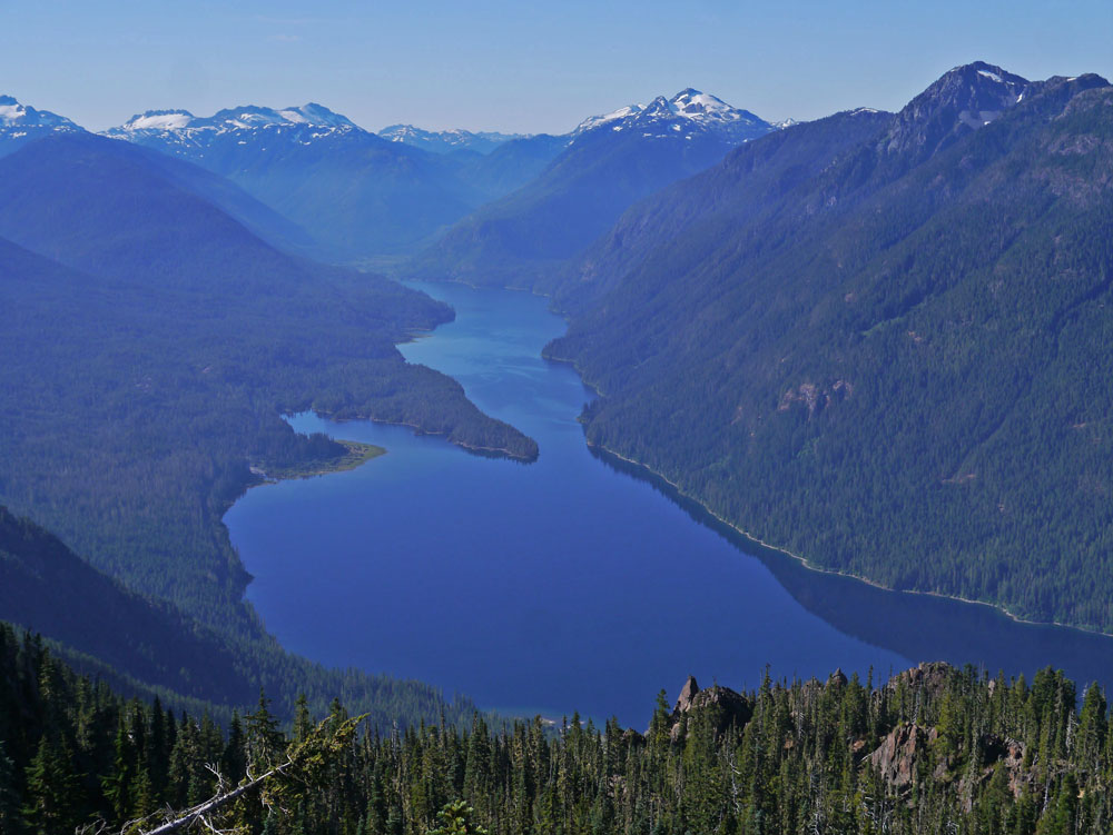 Buttle Lake & Ralph River Area from Augerpoint